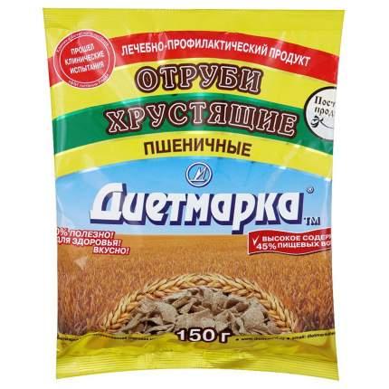 Отруби хрустящие ДиетМарка пшеничные хлопья 150 г