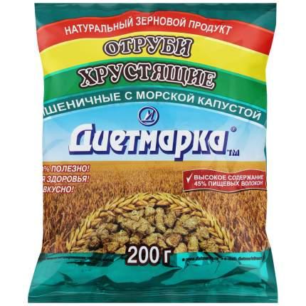 Отруби хрустящие ДиетМарка пшеничные с морской капустой 200 г