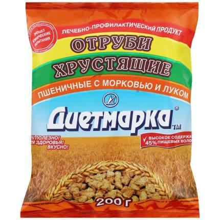 Отруби хрустящие ДиетМарка пшеничные  с  морковью и луком 200 г