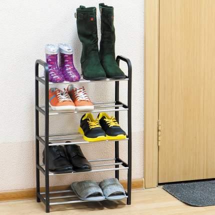 Полка для обуви Artmoon LABRADOR 699287 42х19х79,5 см, серый/черный