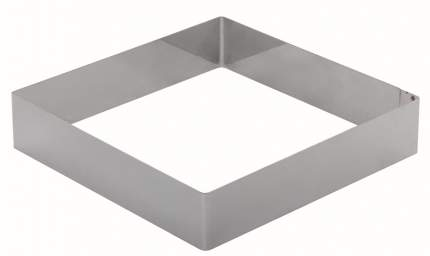 Форма для торта КВАДРАТ 26см 5см нерж. Luxstahl