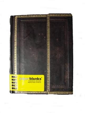 Алфавитная книга Paperblanks Black Moroccan Mini 100*140 мм