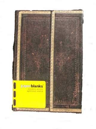 Алфавитная книга Paperblanks Black Moroccan Midi 130*180 мм