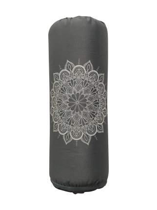 Болстер для йоги RamaYoga Мандала, серый