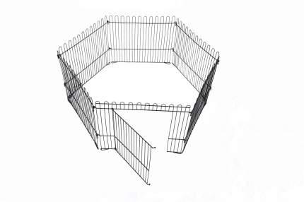 Вольер для собак, щенков ROKLET 50, складной, с дверью, черный, 6 секций по 60х50 см
