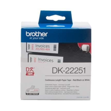 Картридж для матричного принтера Brother DK22251 черный, пурпурный, оригинал
