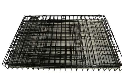 Клетка для собак, щенков ROKLET Shift №7, складная 2 двери черная, 118х76х85 см