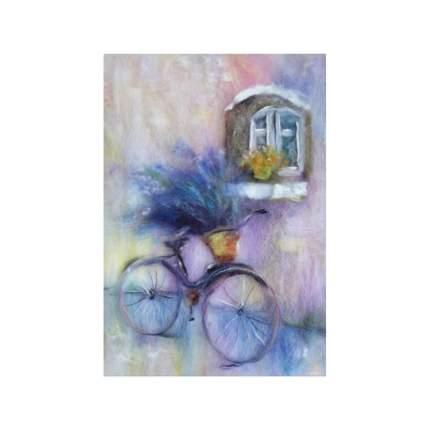 Набор для валяния (живопись цветной шерстью) Лаванда 21x29,7см (А4)