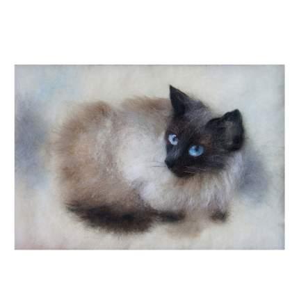 Набор для валяния (живопись цветной шерстью) Муся 21x29,7см (А4)