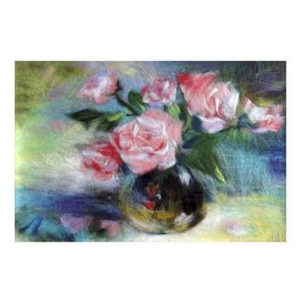 """Набор для валяния (живопись цветной шерстью) """"Розы"""" 21x29,7см (А4)"""