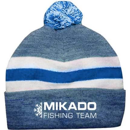 Шапка зимняя Mikado (бело-синяя) UM-UC005