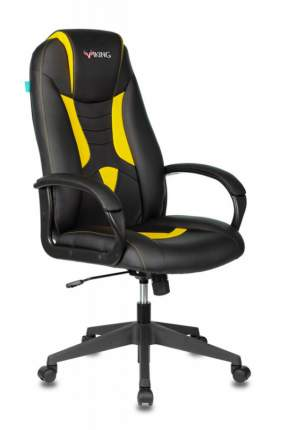 Игровое кресло ZOMBIE VIKING-8N/BL-YELL, черный/желтый