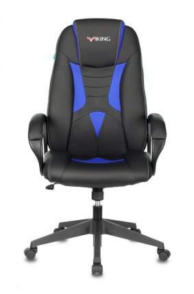 Кресло игровое ZOMBIE VIKING-8N/BL-BLUE черный/синий искусственная кожа