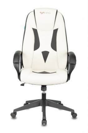 Кресло игровое ZOMBIE VIKING-8N/WH-BLACK белый/черный искусственная кожа