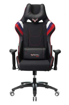 Кресло игровое Бюрократ VIKING 4 AERO RUS белый/синий/красный/черный