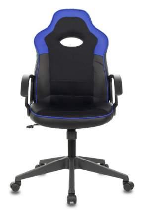 Кресло игровое ZOMBIE VIKING-11/BL-BLUE черный/синий искусст.кожа/ткань