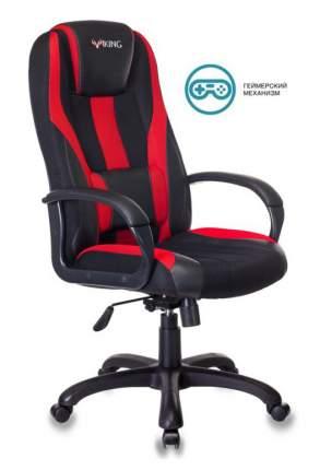 Кресло игровое ZOMBIE VIKING-9/BL+RED черный/красный искусст.кожа/ткань