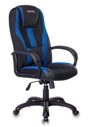 Кресло игровое ZOMBIE VIKING-9/BL+BLUE черный/синий искусст.кожа/ткань