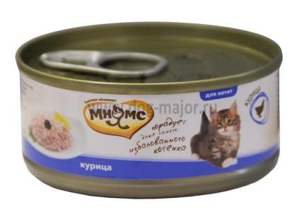 Влажный корм для котят Мнямс в нежном желе, курица, 12шт, 70г