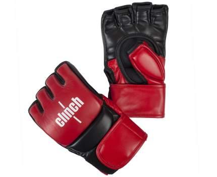 Перчатки для смешанных единоборств Clinch Combat красно-черные (размер S/M)