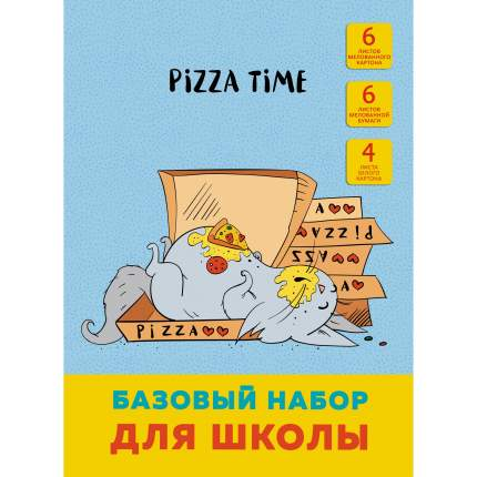 Цветная бумага и картон Unnika Land Время пиццы (офсет, А4, 16 л)