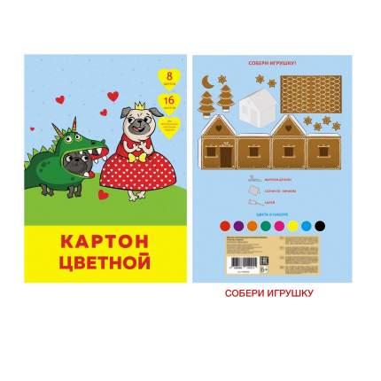 Цветной картон Unnika Land Спектакль (А4,16 л.8 цв.)