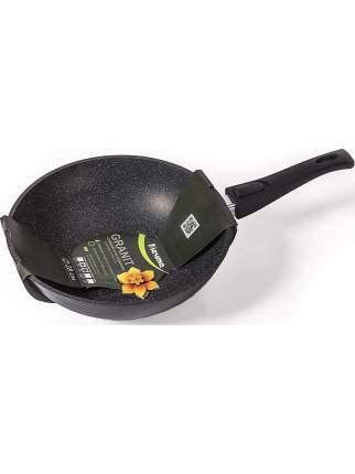 Сковорода-вок Мечта Гранит Black со съемной ручкой, 28 см