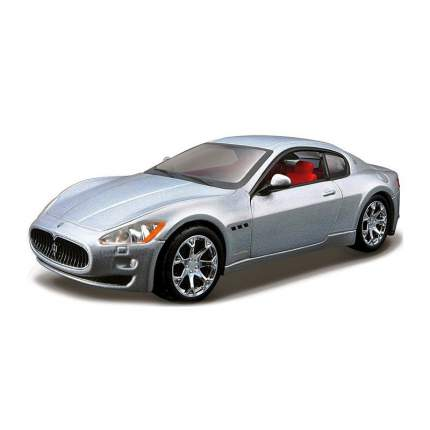 "Bburago Коллекционная машинка 1:32 PLUS ""Maserati GranTurismo"", серебристый"