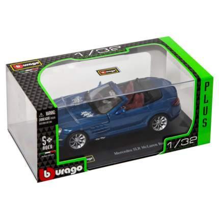 """Bburago Коллекционная машинка 1:32 PLUS """"Mercedes SLR McLaren Roadster"""" синий"""