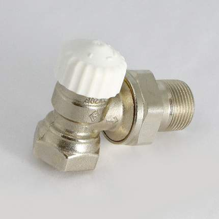 Вентиль термостатический НВ UNI-FITT угловой 3/4″ никелированный с разъёмным соединением