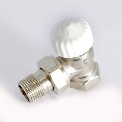 Вентиль термостатический НВ UNI-FITT угловой 1/2″ никелированный с разъёмным соединением