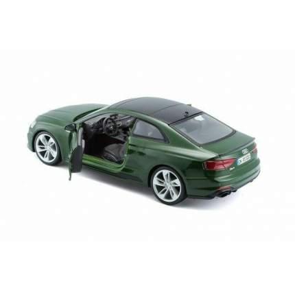 """Bburago Коллекционная машинка 1:24 """"Audi RS 5 Coupe (2019)"""", зеленый, 18-21090"""