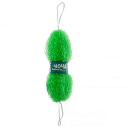 Мочалка банная стружка зеленая
