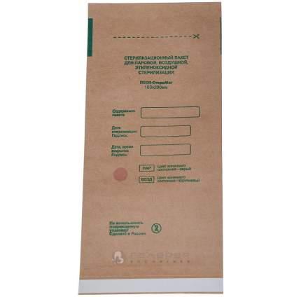 Крафт пакеты для стерилизации; МедТест;100х200 мм; 100 шт.