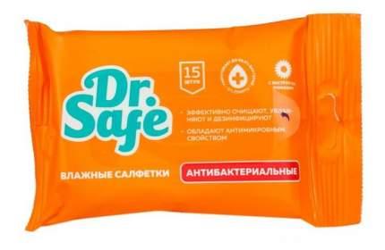 Салфетки для рук DR.SAFE антибактериальные с экстрактом ромашки 15 шт