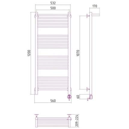 Электрический полотенцесушитель Сунержа Богема П 1200x500 ЛТЭН