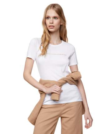Футболка женская United Colors of Benetton CCC_3GA2E16A2 белая XS