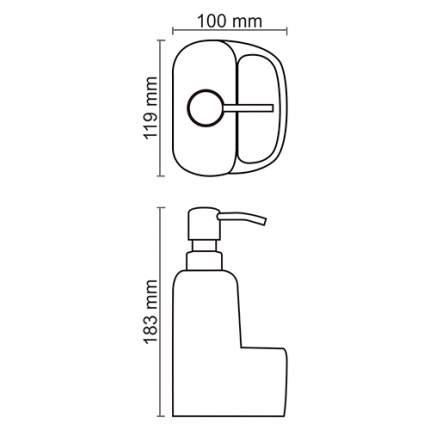 Дозатор для мыла WasserKRAFT K-8499