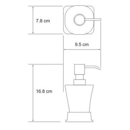 Дозатор для мыла WasserKRAFT Amper K-5499BLACK