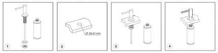 Встраиваемый дозатор для мыла, Wasserkraft K-1299