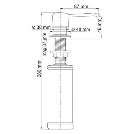 Дозатор для мыла WasserKRAFT K-1799