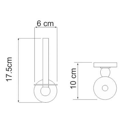 Держатель для туалетной бумаги WasserKRAFT Diemel K-2297