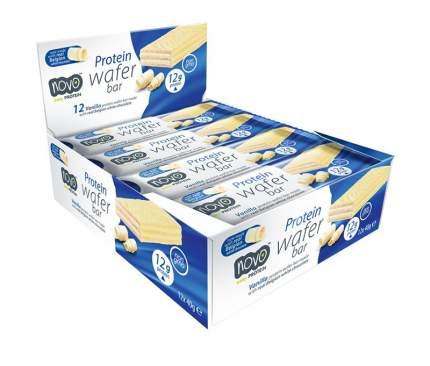 Протеиновые вафли Novo Nutrition Protein Wafer Bar 40 г, 12 шт, вкус: ваниль