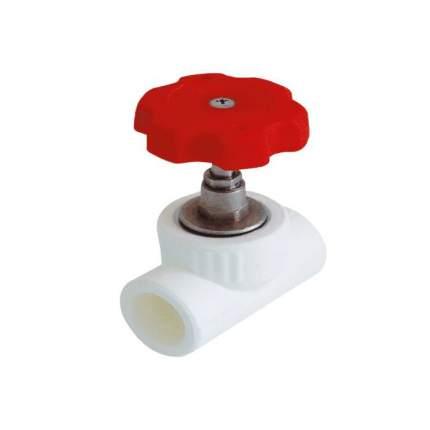 Клапан (вентиль) PP-R запорный белый внутренняя пайка Дн 25х90гр VALFEX 10146025