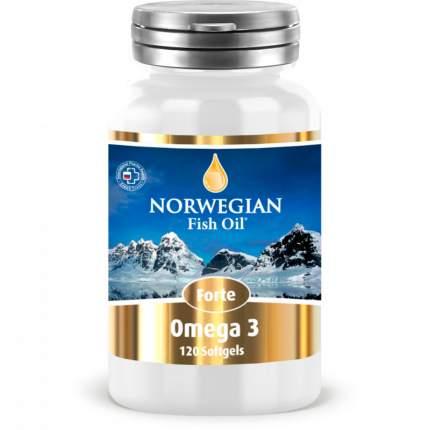NORWEGIAN Fish Oil Омега-жиры NORWEGIAN Fish Oil Омега-3 Форте, 120 капс