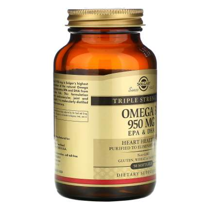 Solgar Омега-жир Solgar Omega 3 950 мг, 50 капс
