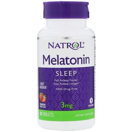Natrol Мелатонин Natrol Melatonin 3 mg Fast Dissolve, 90 таб, вкус: клубника