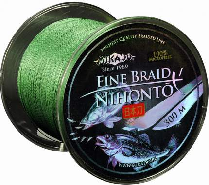Шнур плетеный Mikado Nihonto Fine 0,16 мм, 300 м, 12,5 кг