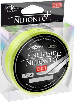 Шнур плетеный Mikado Nihonto Fine 0,06 мм, 150 м, 3,25 кг fluo