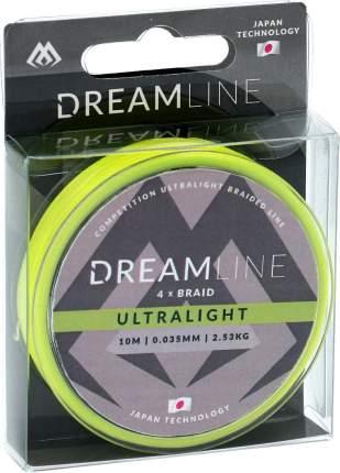 Шнур плетеный Mikado Dreamline Ultralight 0,06 мм, 10 м, 4,43 кг